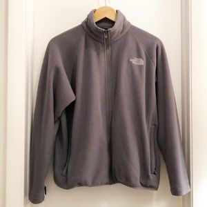 The North Face Fleece Full Zip Jacket Gray Medium